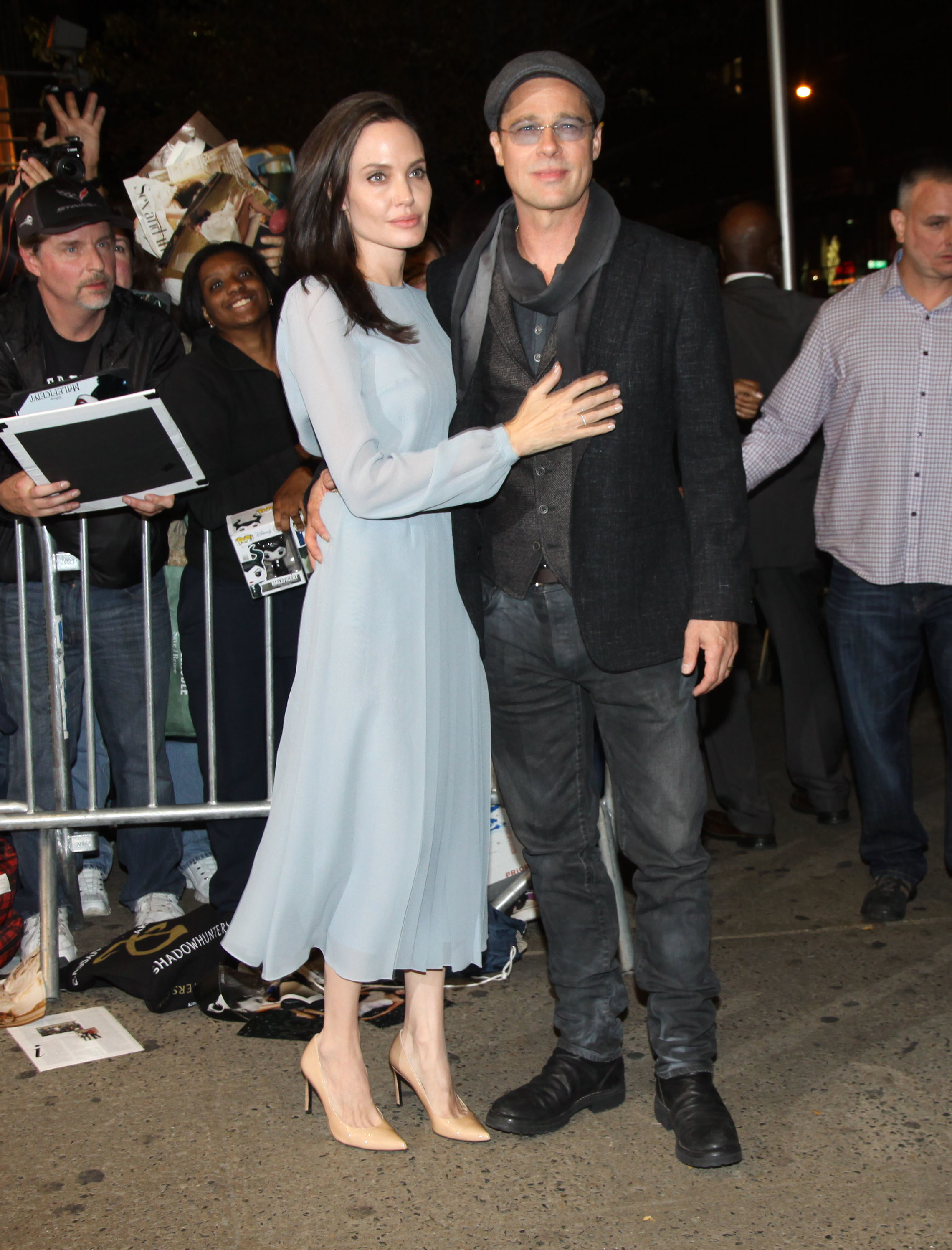 Screening of 'By The Sea' at the City Cinemas 1,2 & 3  Featuring: Angelina Jolie, Brad Pitt, fans Where: New York, New York, United States When: 03 Nov 2015 Credit: Michael Carpenter/WENN.com  **Not available for New York Daily News.**