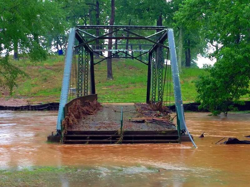 Bridge over the Cahaba River in Trussville Saturday, May 18, 2013. Photo from Jay Simpson.