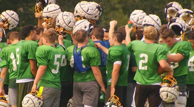 Christ School working hard to get ready for the upcoming football season. Photo: WLOS staff