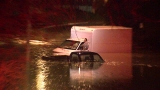 Firefighters use boat to rescue driver in Westwood