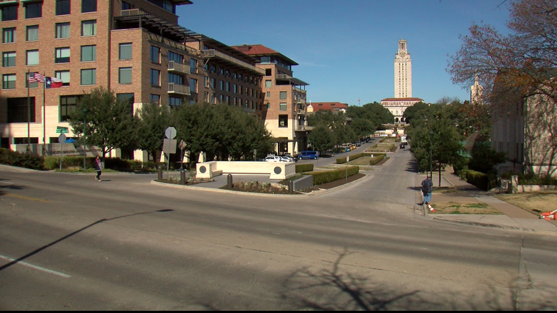 The gateway to UT Austin is located at University Avenue and E. Martin Luther King Jr. Blvd.