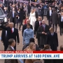 WATCH: President Trump arrives at 1600 Pennsylvania Avenue