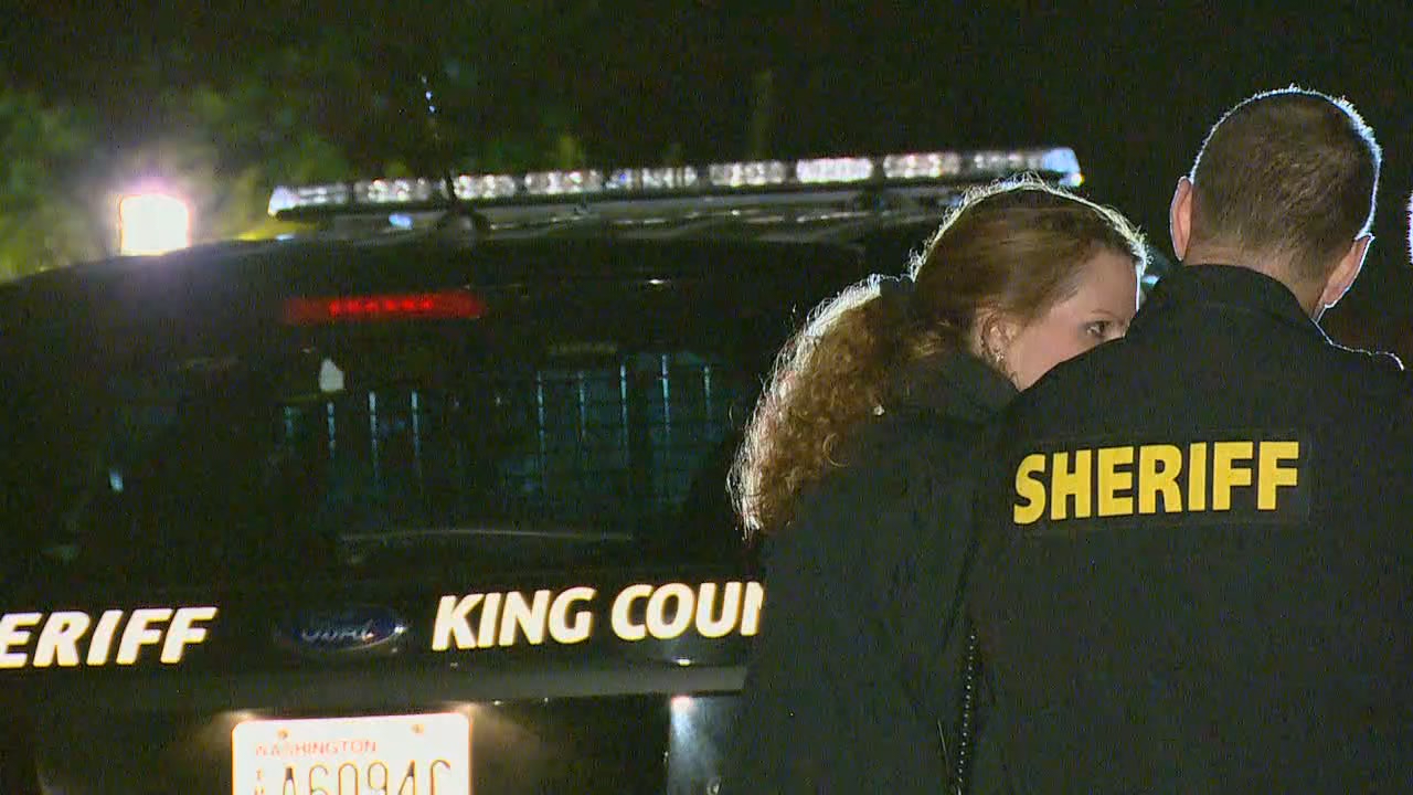 The King County Sheriff's Office investigates after three bodies were found in a Sammamish home on Saturday, Nov. 18, 2017. (Photo: KOMO News)
