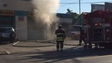 Crews battle fire at Muffler Man in Kalamazoo Township