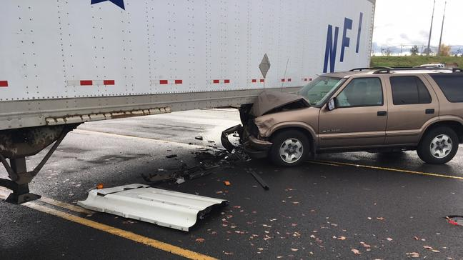 Beaverton Police: Driver seriously injured in collision with semi-truck