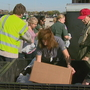 Food drive held at Lambeau Field parking lot