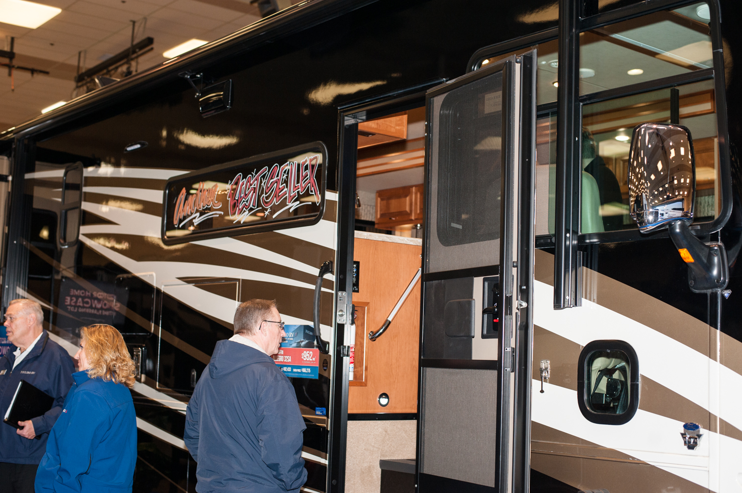 $166,275 - Poulsbo RV's 2019 Tiffin Allegro 32 SA. The Tacoma RV Show is happening this weekend (Jan. 17-20) at the Tacoma Dome, with hundreds of RV's on display and more than 100 brands at the show. Since we are Seattle 'Refined' - you know we had to check out the most expensive, swankiest vehicles at the show! (Image: Elizabeth Crook / Seattle Refined)
