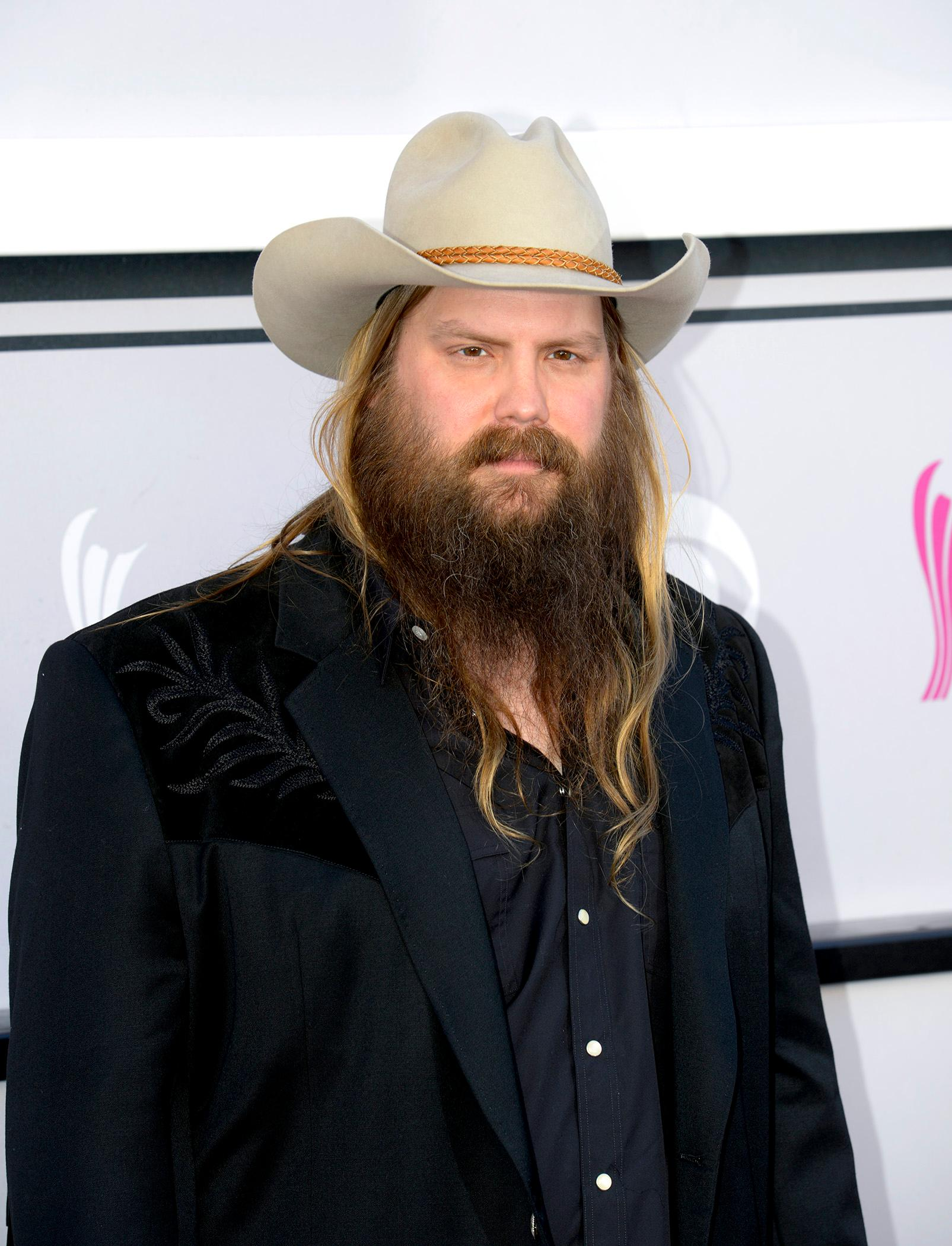 Singer Chris Stapleton Nominee for Male Vocalist of the year and Song of the Year walks the Academy of Country Music Awards red carpet at T-Mobile Arena. Sunday, April 2, 2017. (Glenn Pinkerton/ Las Vegas News Bureau)