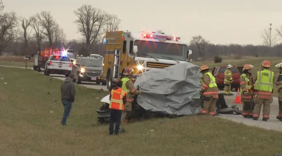 One person was killed in a head-on collision on Route B, and another driver taken to hospital with serious injuries (Caileigh Peterson/KRCG 13)<p></p>