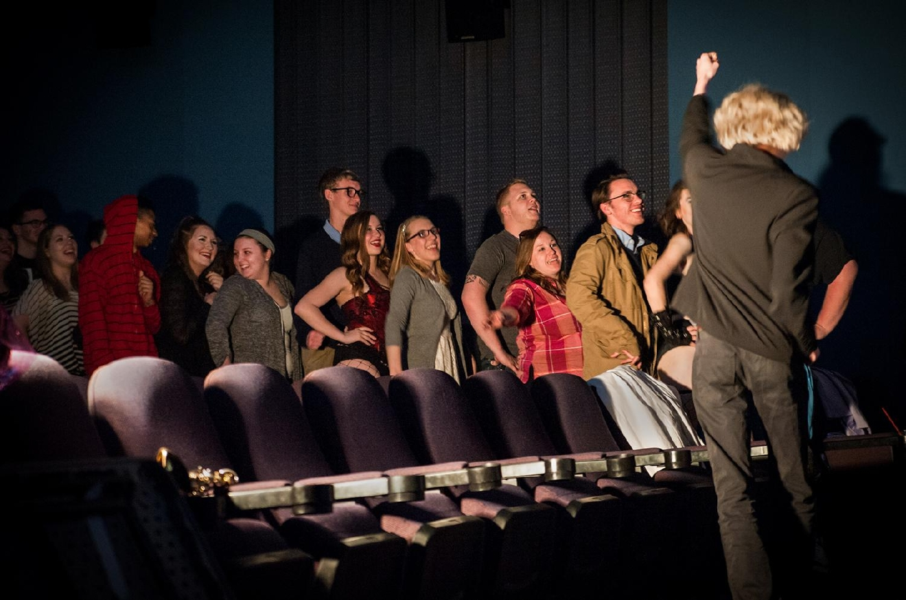 "The audience gets in on the famous ""Time Warp"" dance during the March 12 show. / Image: Melissa Doss Sliney"