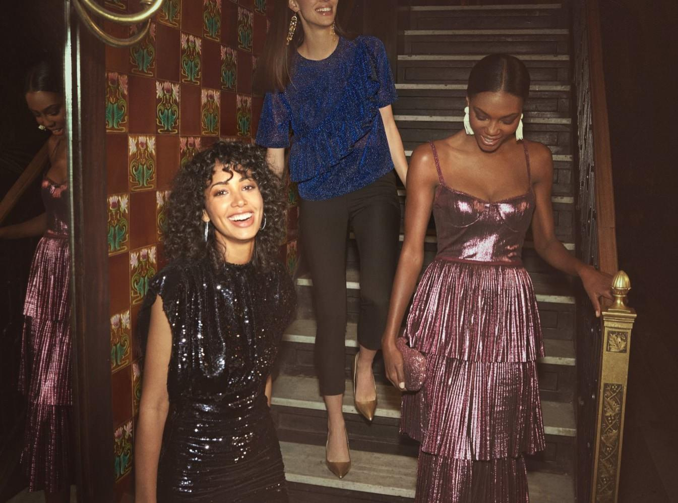 Sequin, sparkle, fur and feathers OH MY! We've rounded up the best looks to help you dazzle into a New Year. Check it out! (Image: Rent the Runway){ }