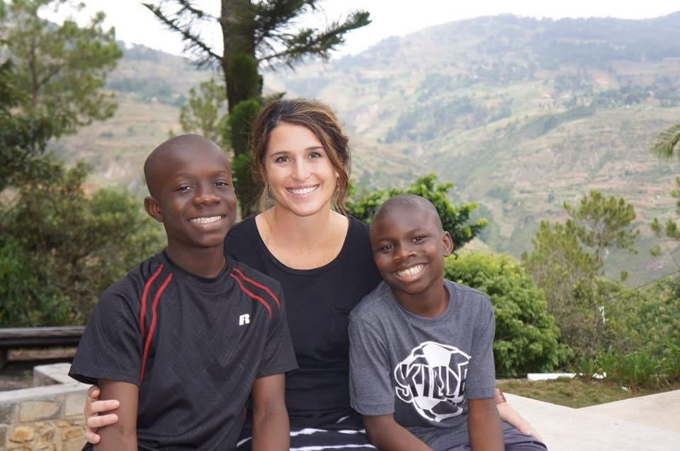 Amanda Rhomberg pictured with her adopted sons Nelson (L) and Jackson (R) in Haiti.{&amp;nbsp;}<p></p>
