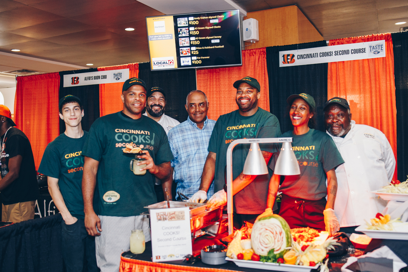 Andrew Kennedy, Jamie Taroh, Chef Marcus Hazer, Marvin Lewis, James Owens, Day'Sha Brown, and Chef John Cohn /{ }Image: Catherine Viox // Published: 6.14.18