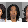 Police: three arrested after stolen handgun, drugs recovered during raid