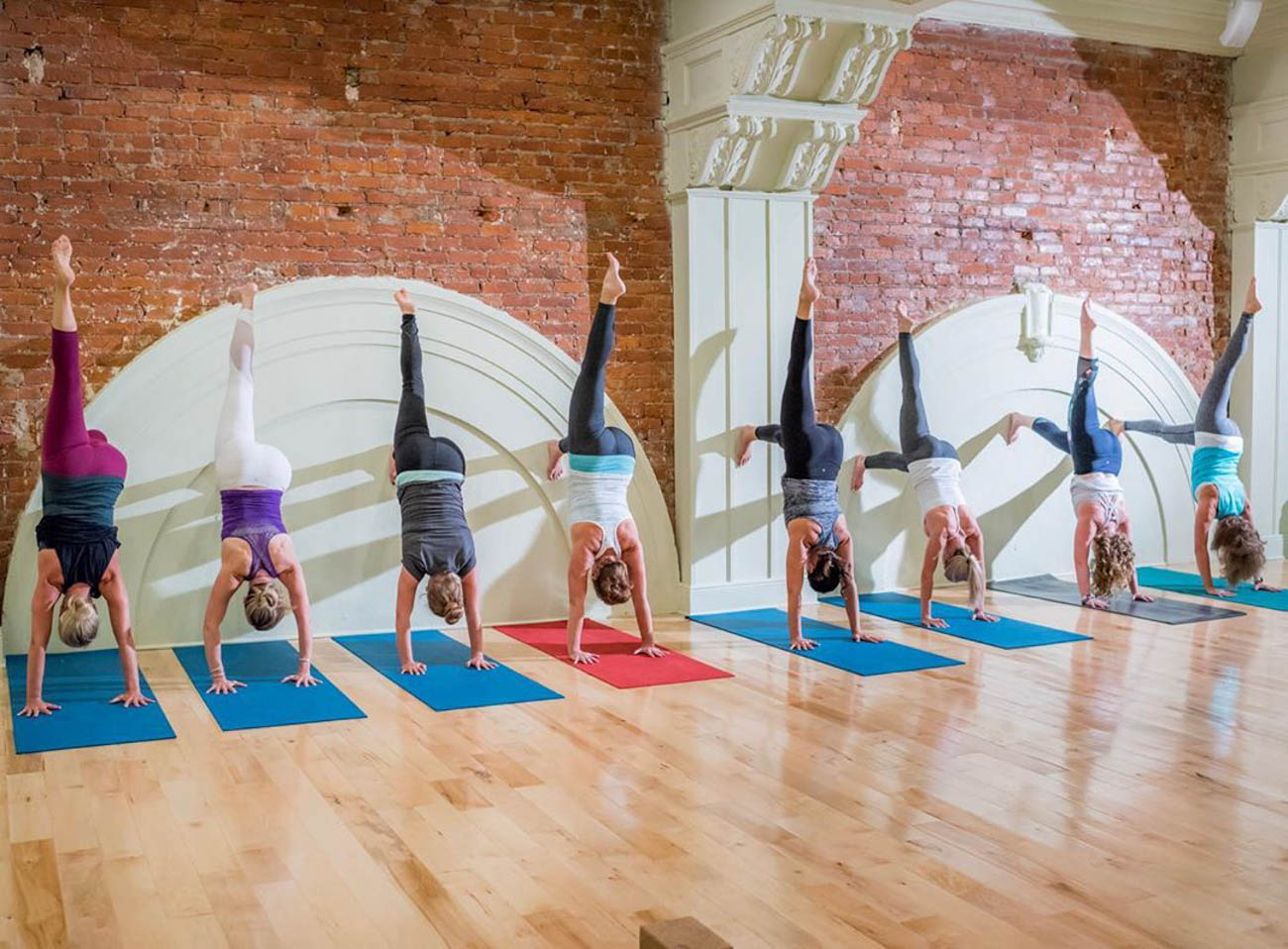 Mint Yoga Studio is located on the third floor of the historic Hiland Building in Fort Thomas. What was originally a theater back in the day, and home to a dentist's office at one point in time, the studio that now occupies the space continues to boast the site's 13-foot ceilings, exposed brick, and plenty of natural light that gives it a refreshing atmosphere. ADDRESS: 18 N Ft Thomas Avenue #301 (41075) / Image courtesy of Mint Yoga Studio // Published: 8.31.19