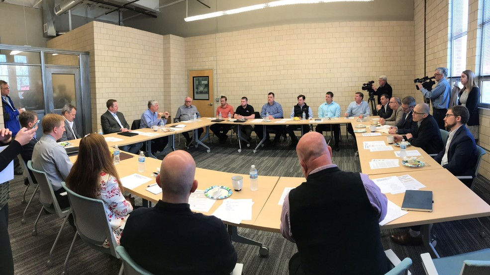 Rep. Fred Upton meet with executives to discuss tariffs, trade and other economic issues.jpg